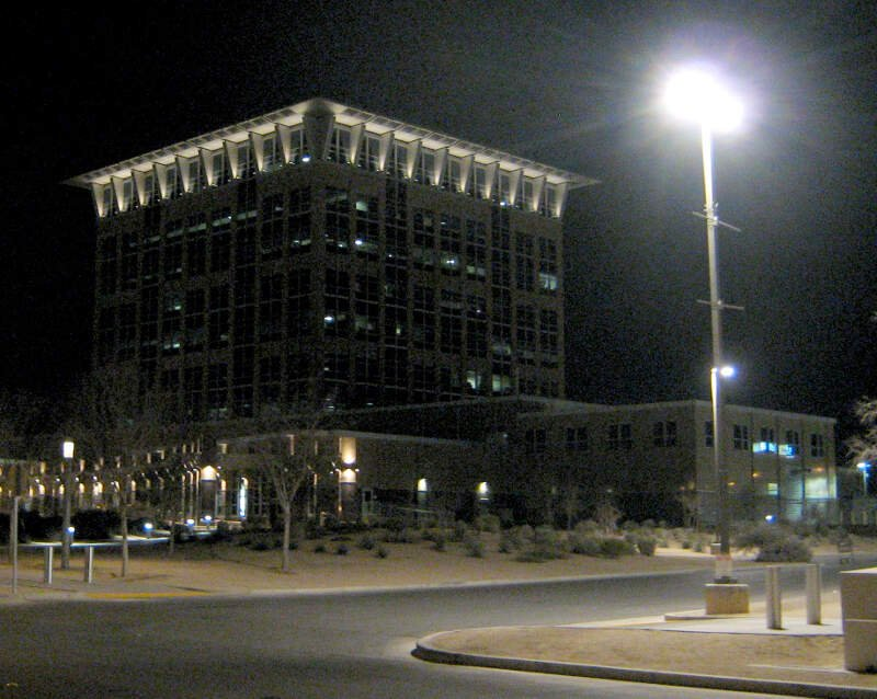 North Las Vegas City Hall At Nightc February