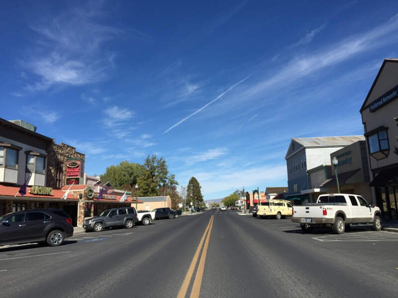 View North Along Main Street Nevada State Route  Near Littell Street In Downtown Yeringtonc Nevada