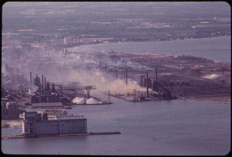 Bethlehem Steel Plant On The Lake Erie Waterfront South Of Buffalo  Nara