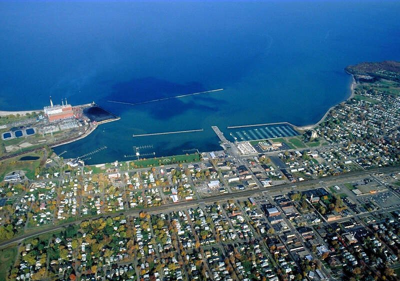 Dunkirk New York Aerial View