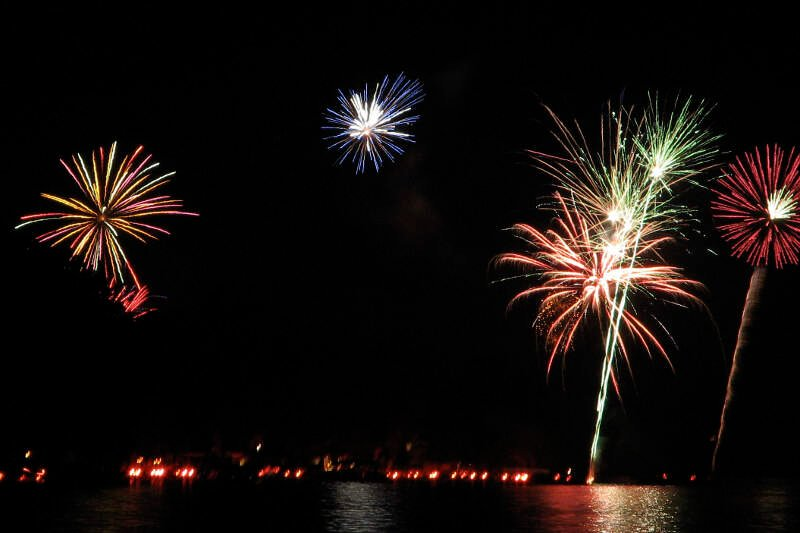 Conesus Lake Ring Of Fire And Fireworks