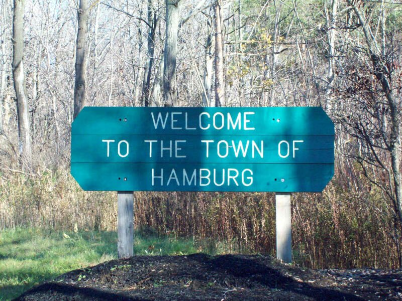 Hamburg Ny Welcome Sign Nov