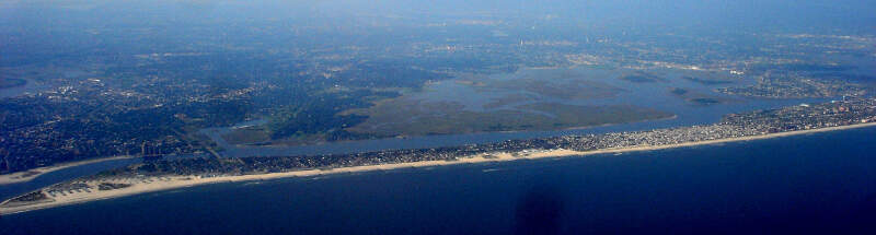 Atlantic Beach And Long Beach Aeriel View