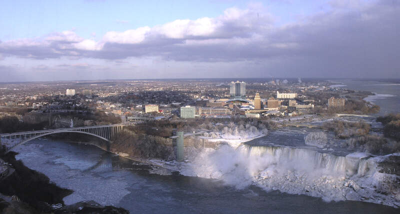 Niagara Fallsc New York From Skylon Tower