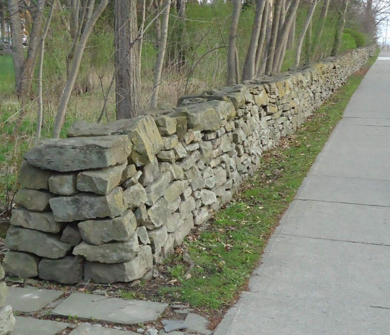 City Of Norwich In New York State  Rock Wall