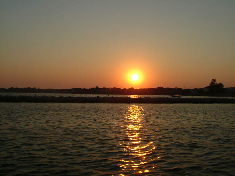 Sunset Off The Patchogue Village Dock
