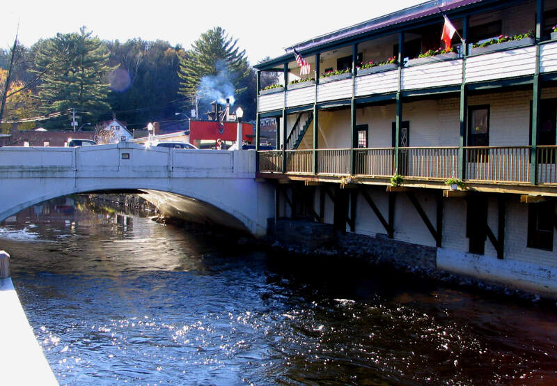 Saranac Lake   Saranac River Bridge