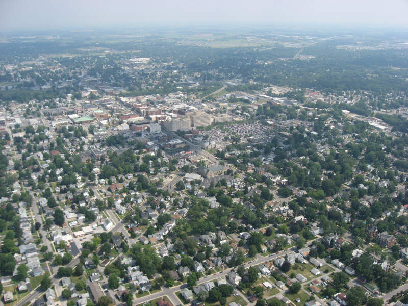 Downtown Findlay From The Air