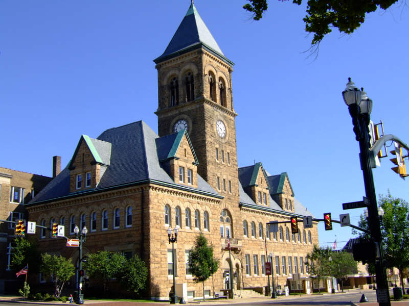 Romanesque Building In Lancasterc Ohio