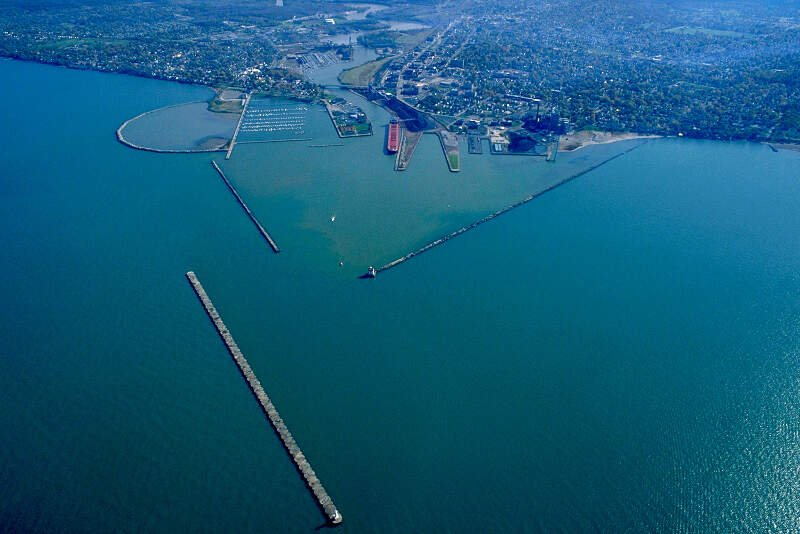 Lorain Ohio Aerial View