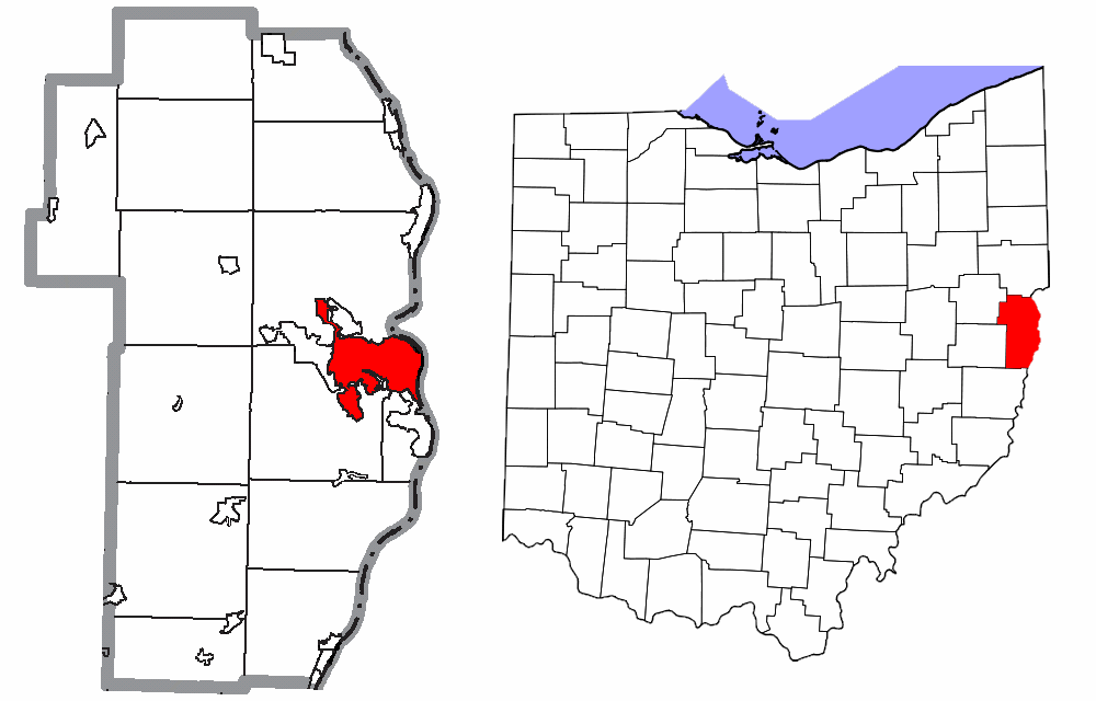 Jefferson County Ohio Steubenville Highlighted