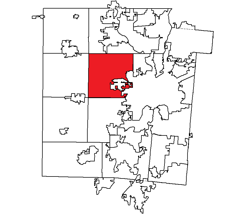 Trotwood City Oh Outline