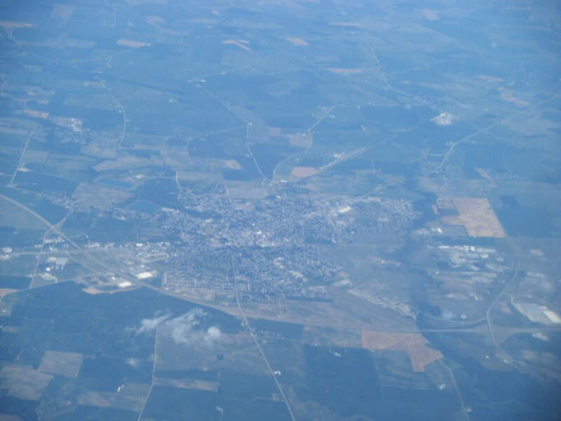 Washington Court House Oh From Airplane