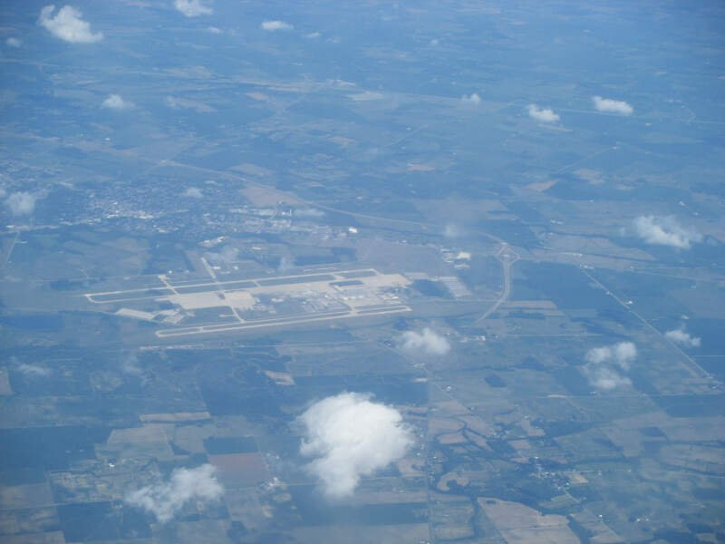 Wilmington Oh From Airplane