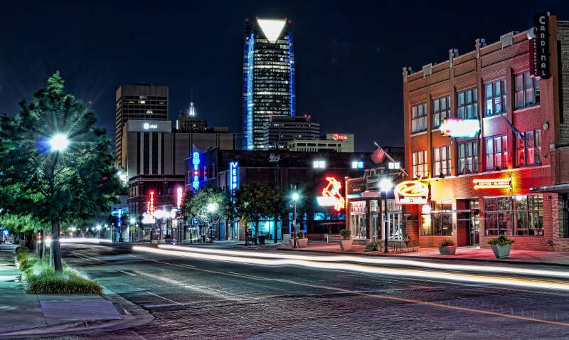 Automobile Alley In Oklahoma City