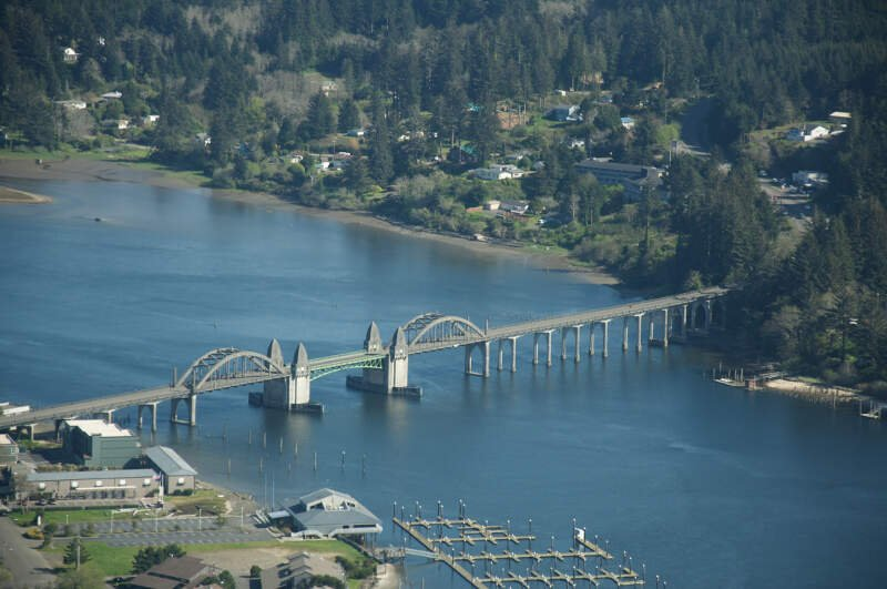 Siuslaw River Bridge At Florence Or