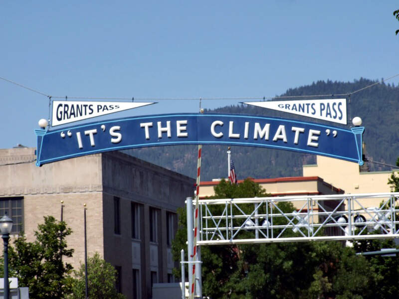 Its The Climate Sign In Grants Passc Oregon