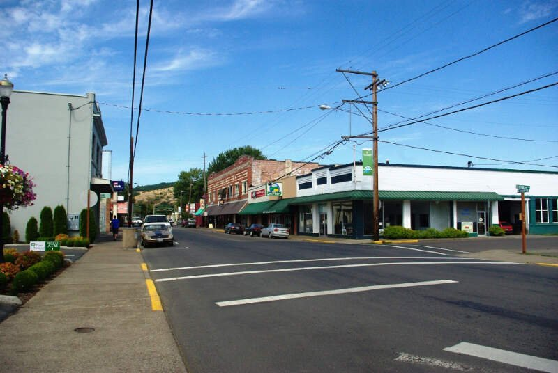 Sheridan Oregon Downtown At Bridge And Sheridan Roads