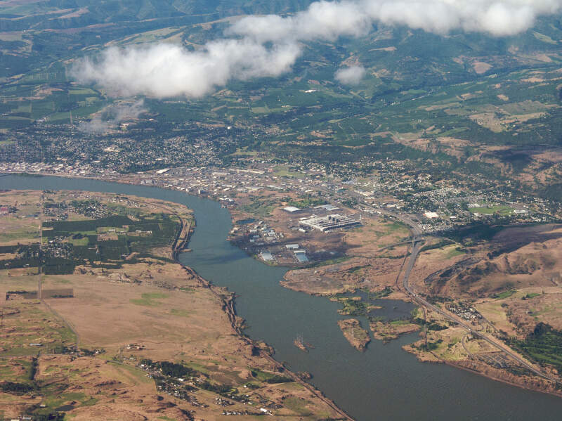 The Dalles Oregon Aerial