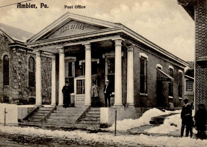 Ambler Pa Post Office Postcard