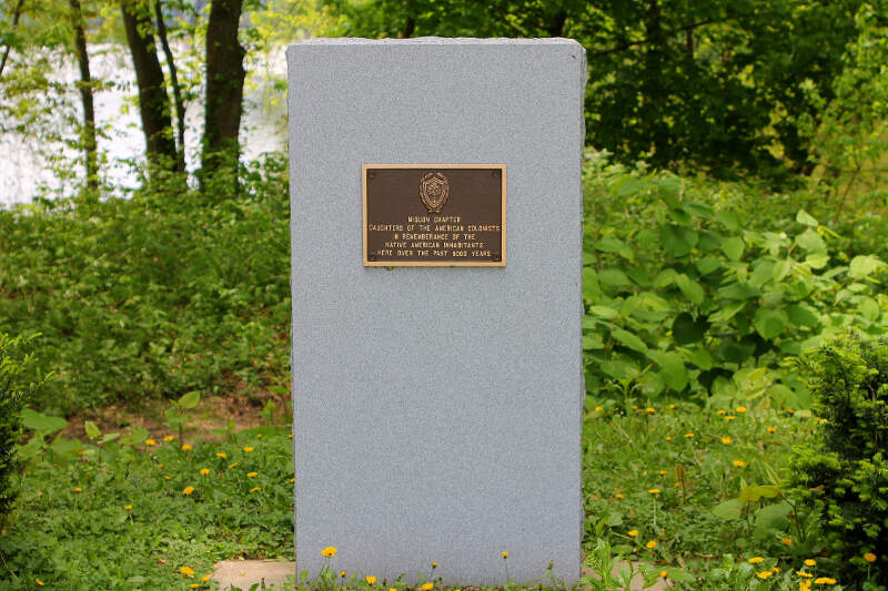 Monument To Native Americans In Bloomsburg
