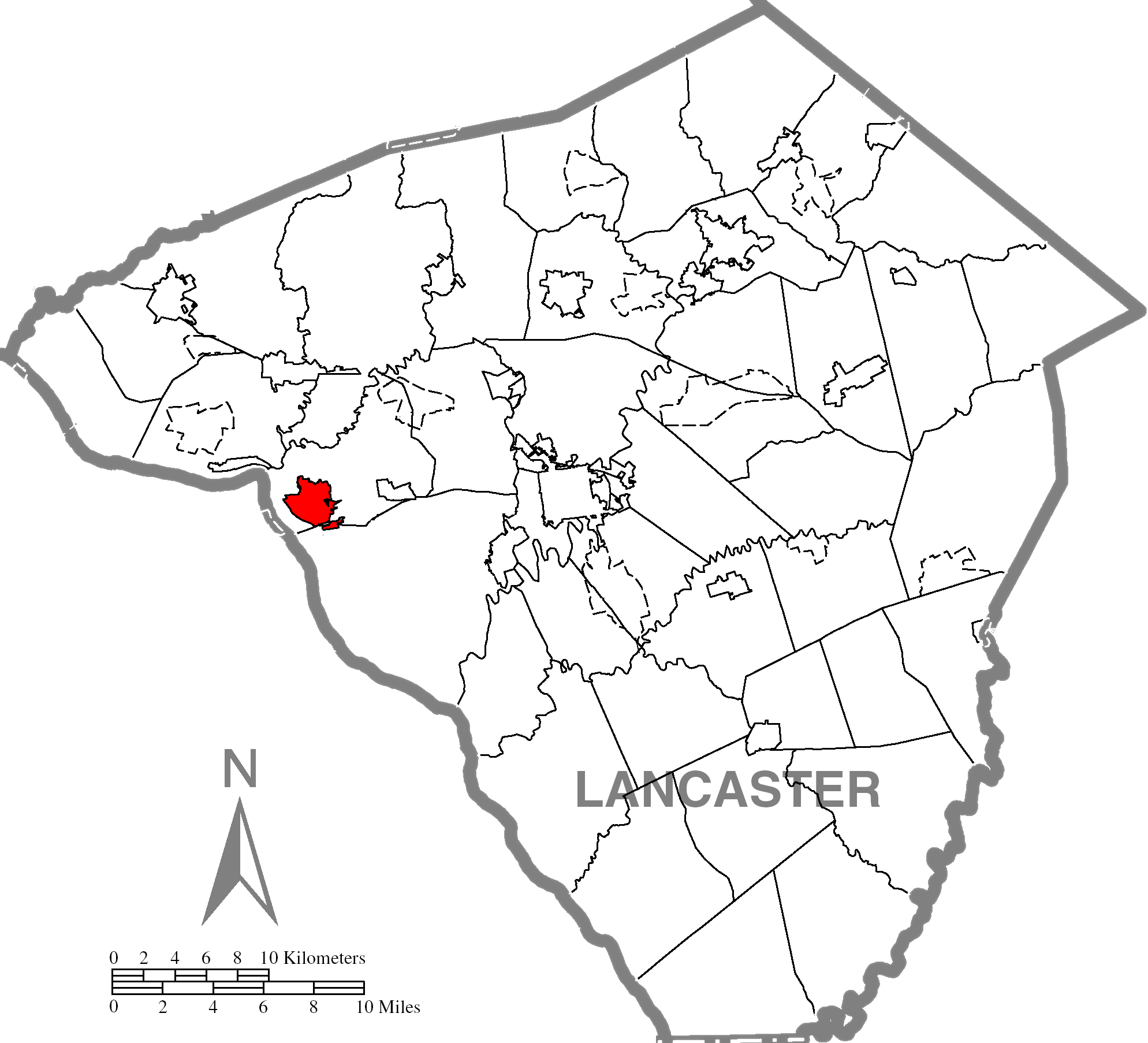 Columbiac Lancaster County Highlighted