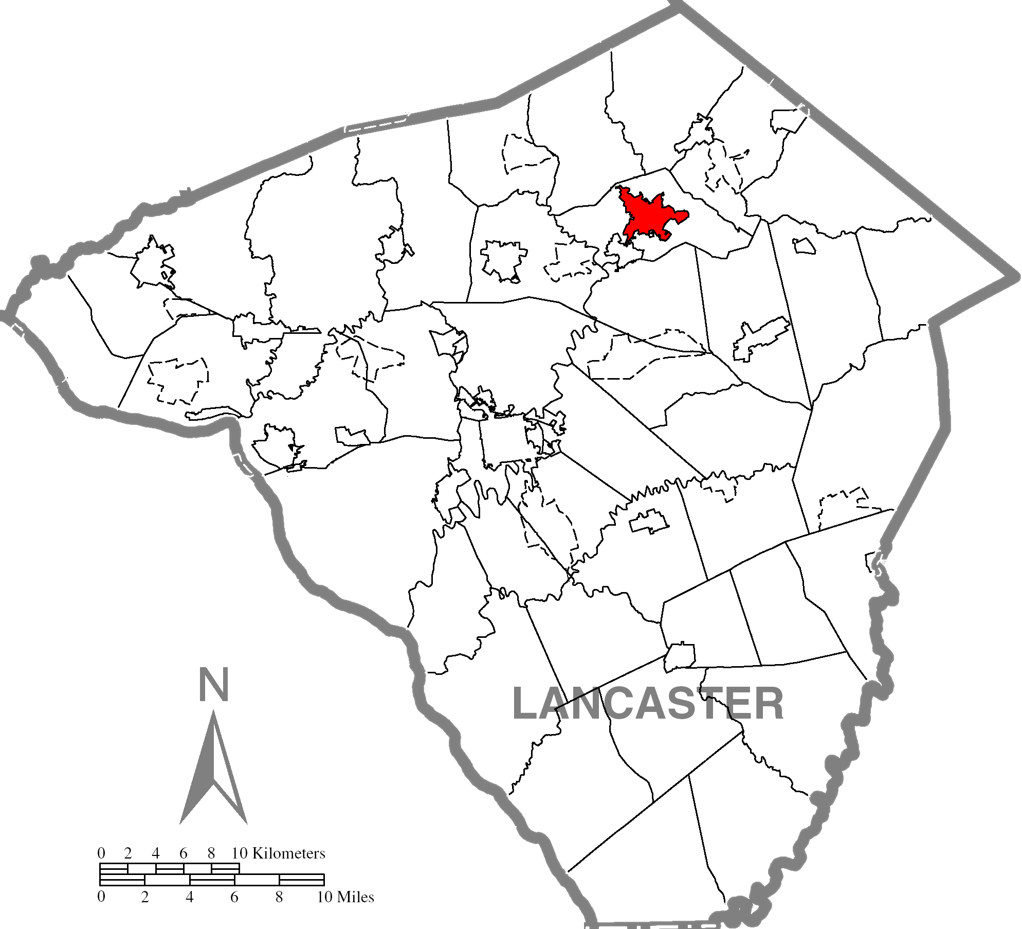 Ephratac Lancaster County Highlighted