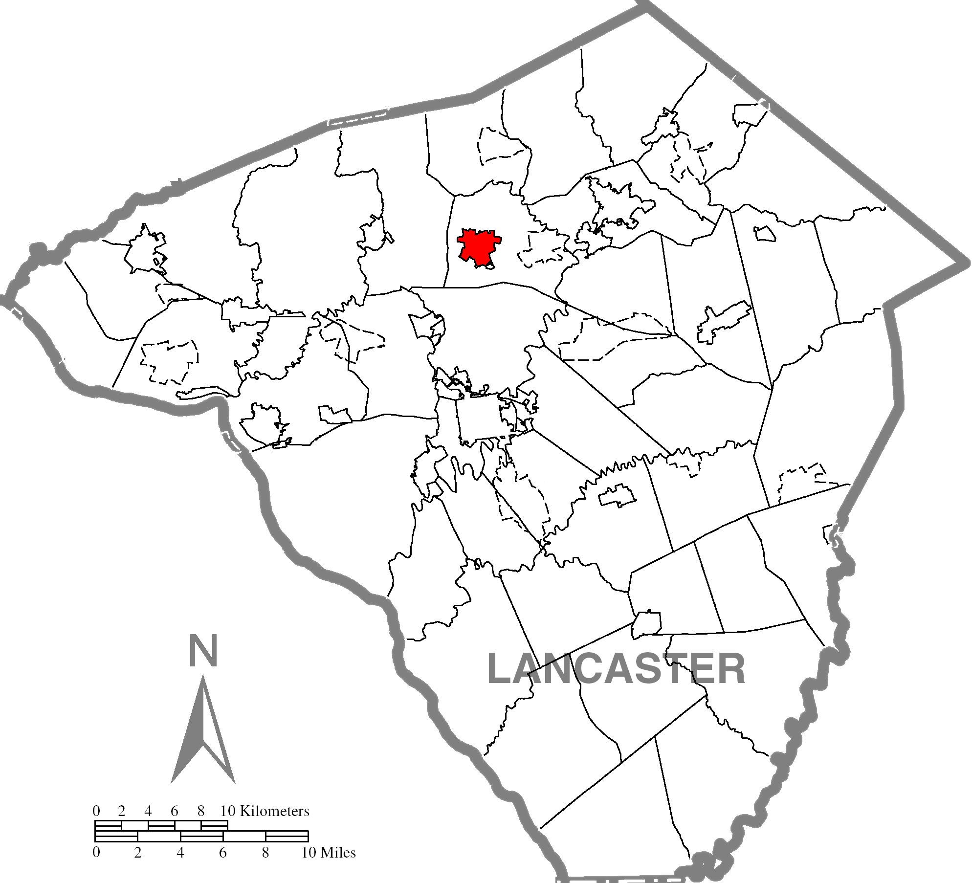 Lititzc Lancaster County Highlighted