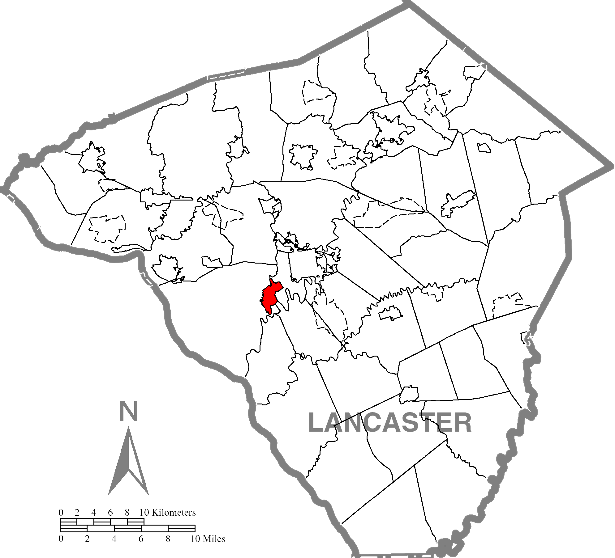 Millersvillec Lancaster County Highlighted