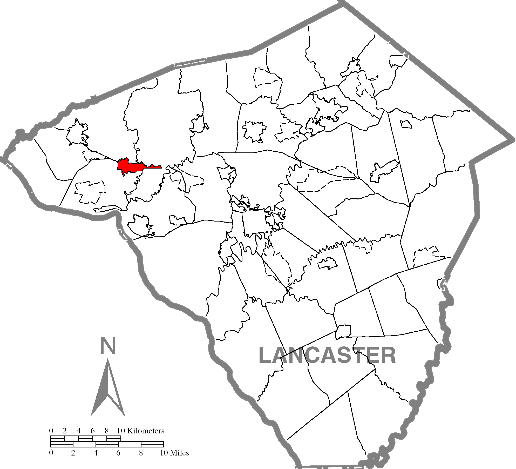 Mount Joyc Lancaster County Highlighted