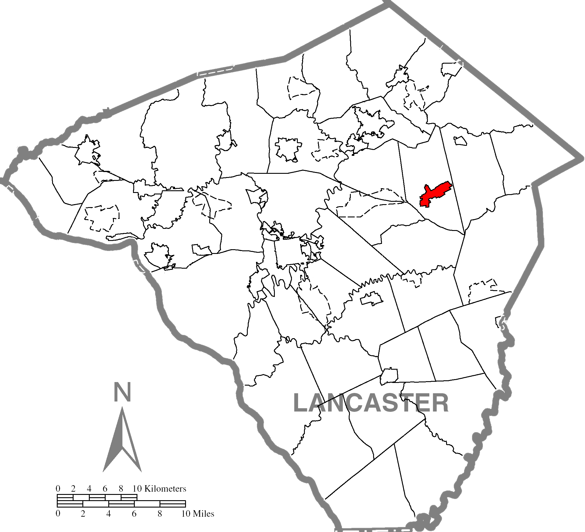 New Hollandc Lancaster County Highlighted