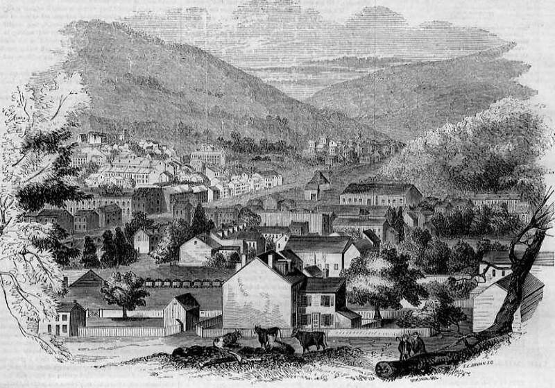 View Of Pottsvillec Pennsylvania