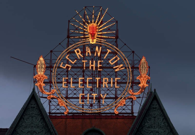 Scrantonc Pennsylvaniac Restored Historic Electric City Sign By Carol Highsmith Loc Highsm