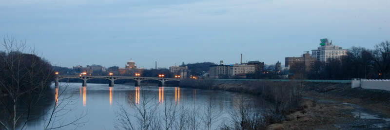 Wilkes Barre With Susquehanna River