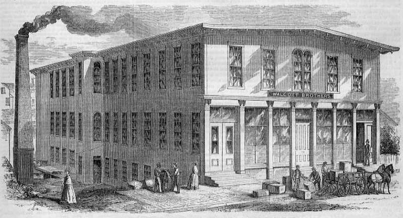 Exterior View Of Walcott Brothers Manufactoryc Pawtucket