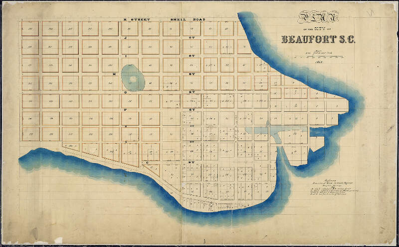 Plan Of The City Of Beaufortc S