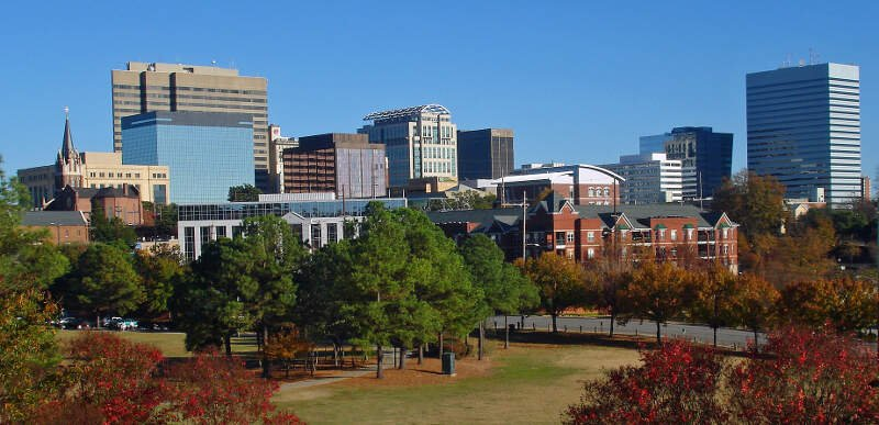 Fall Skyline Of Columbia Sc From Arsenal Hill