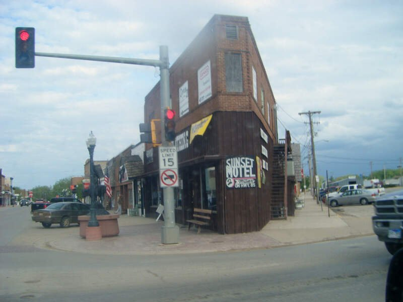 Narrow Building In Belle Fourche
