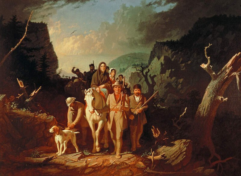 George Caleb Bingham   Daniel Boone Escorting Settlers Through The Cumberland Gap