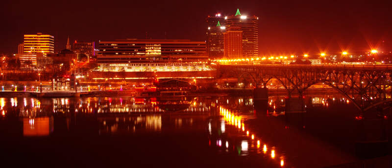 Knoxville South Waterfront Night Tn