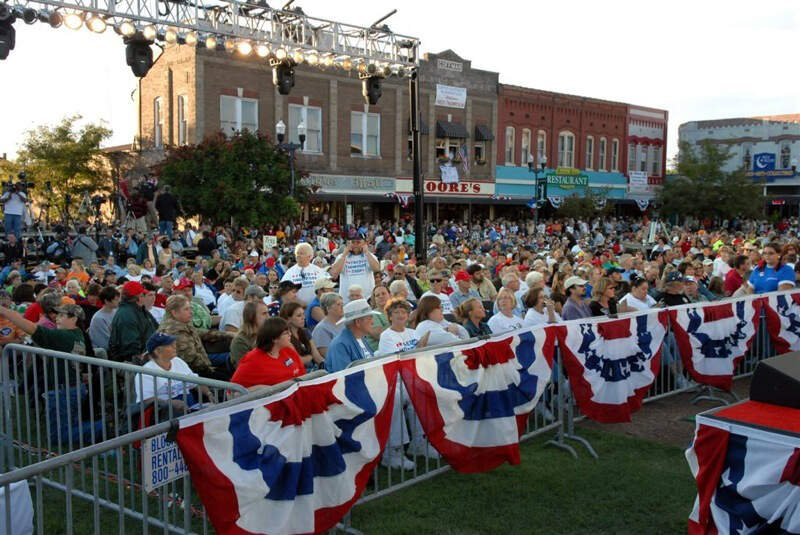 Fred Thompson Rally Lawrenceburg Tennessee