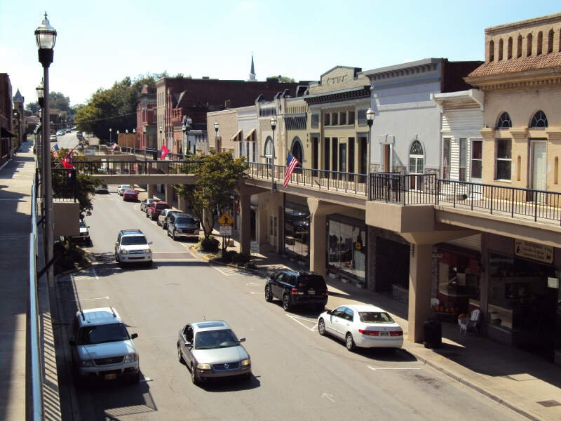 Downtown Morristown Tennessee Overhead Sidewalks