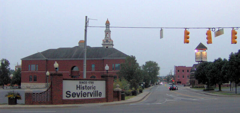 Sevierville Historic District Entrance