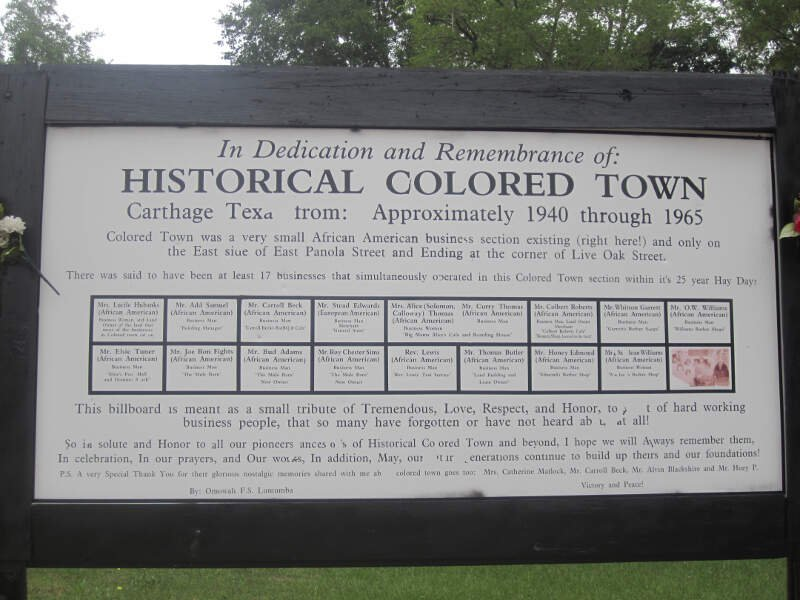 Historical Colored Townc Carthagec Tx Img