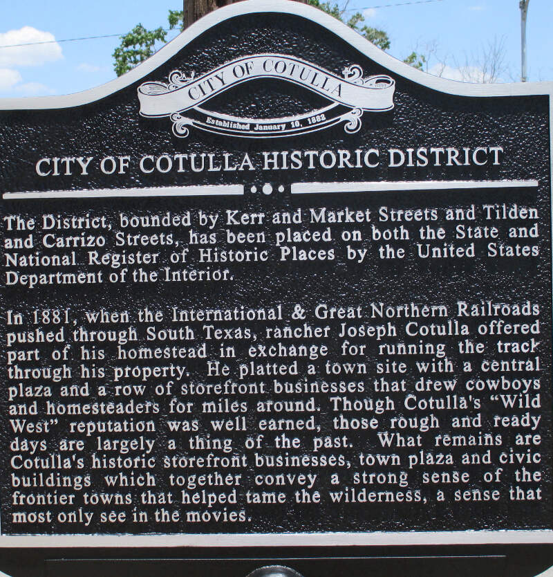 Cotullac Tx Historic District Sign Img