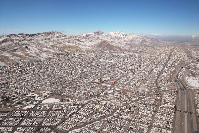 Franklin Mountains And Austin High Schoolc El Paso
