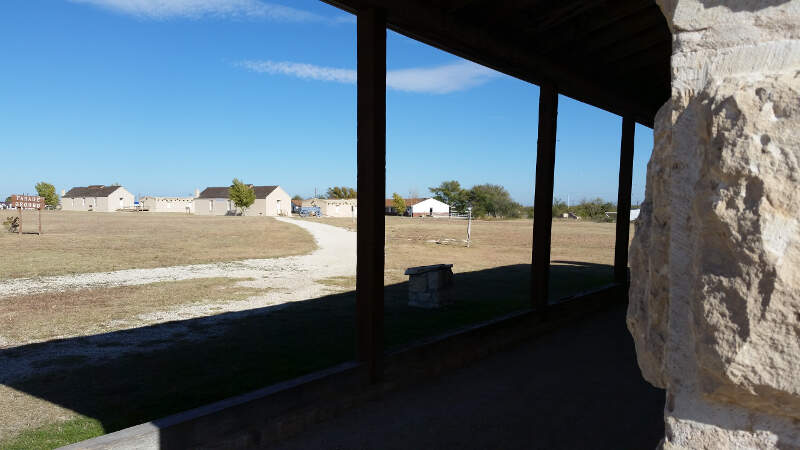 Fort Stockton Parade Ground And Barracks As Seen From The Guard House