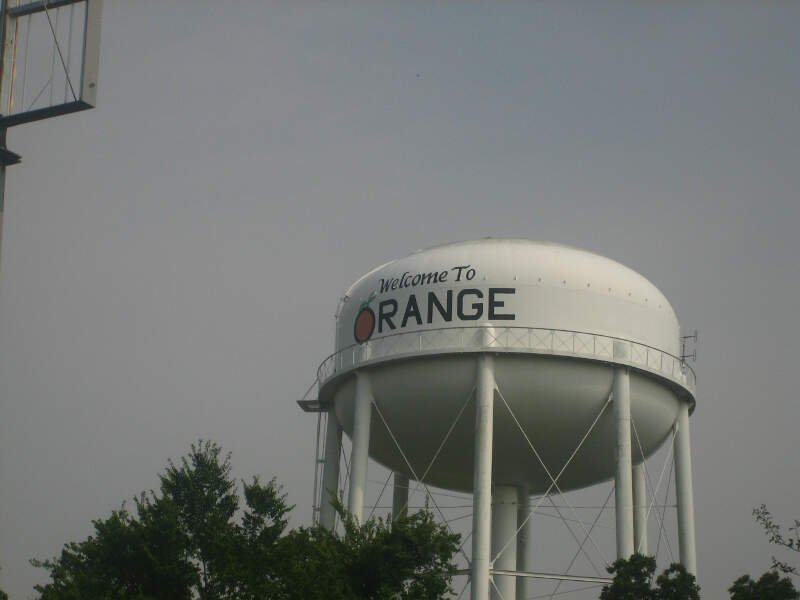Orangec Texas Water Tower