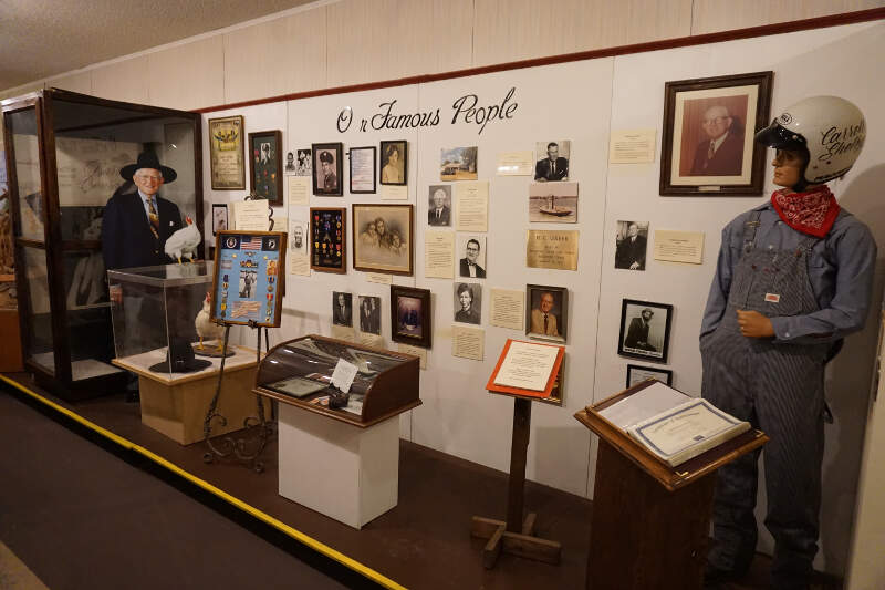 Northeast Texas Rural Heritage Museum August   Our Famous People Display
