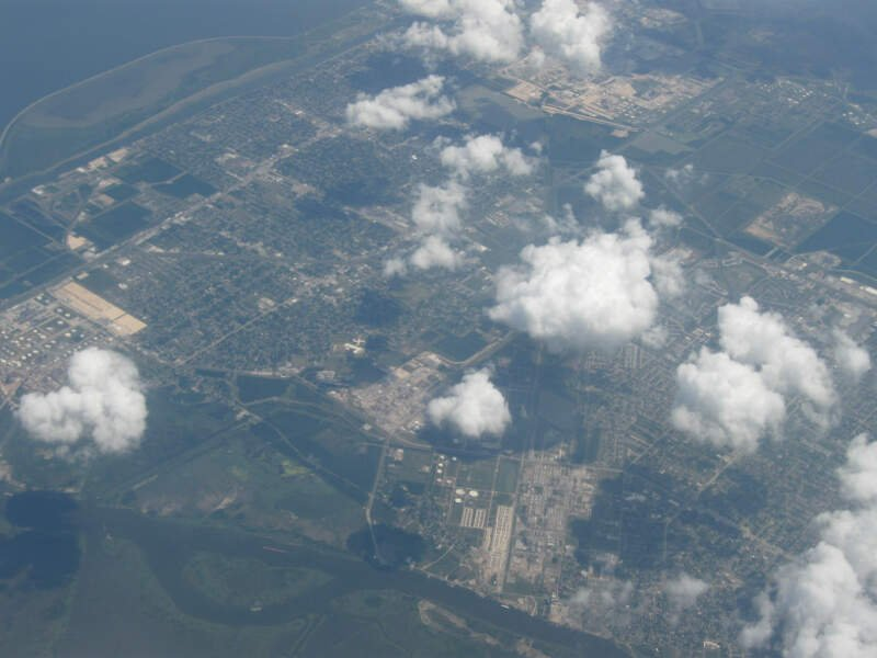 Aerial View Of Port Arthurc Texas